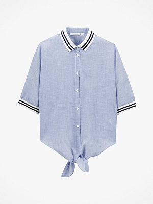 La Redoute Randig skjorta i två material med kort ärm