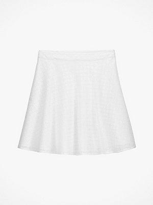 La Redoute Utställd, halvlång kjol med engelsk brodyr
