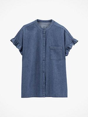 La Redoute Prickig jeansblus med ståkrage