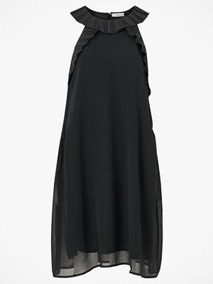 La Redoute Enfärgad, ärmlös klänning i rak modell med volangdetaljer