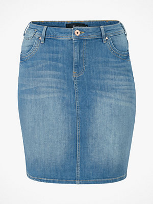 Zizzi Jeanskjol jAnnabel Below Knee Skirt