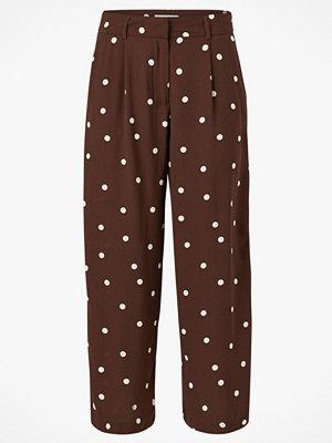Vila Byxor viFlores Pretty Cropped Pants prickiga