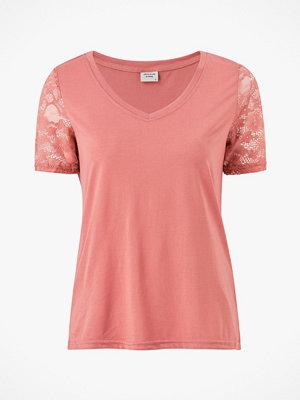 Jacqueline de Yong Topp jdyKim Treats S/S V-neck Lace Top
