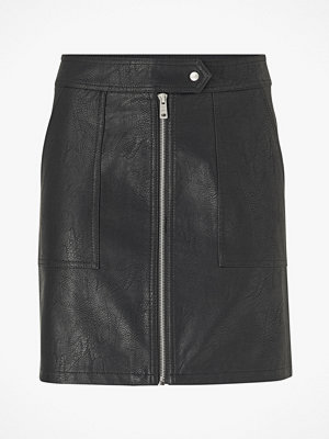 Only Kjol onlErica Faux Leather Skirt