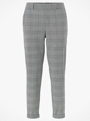 Vero Moda Byxor vmMaya MR Loose Check Pant grå rutiga