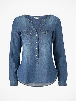 Skjortor - Jacqueline de Yong Jeansskjorta jdyWyre L/S Placket Denim Shirt