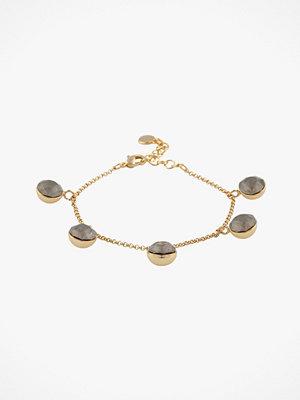 SNÖ of Sweden smycke Armband Liw Stone Charm Bracelet