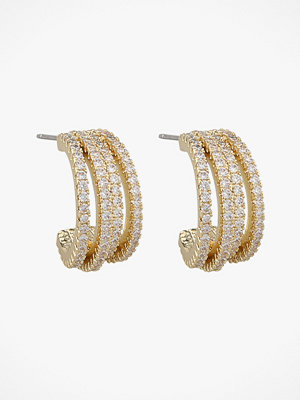 SNÖ of Sweden smycke Örhängen Clarissa Small Wide Oval Earring