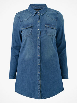 Skjortor - Zizzi Jeansskjorta jHope L/S Long Shirt