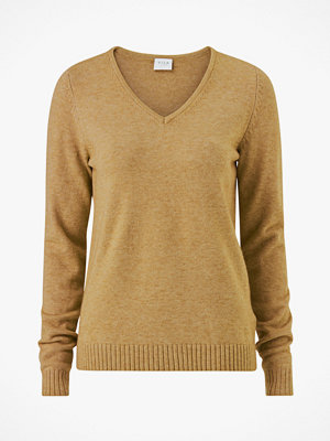 Vila Tröja viRil L/S V-neck Knit Top-Fav