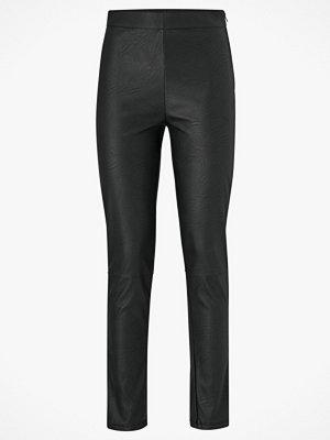 Gina Tricot Byxor Mary PU Trousers svarta