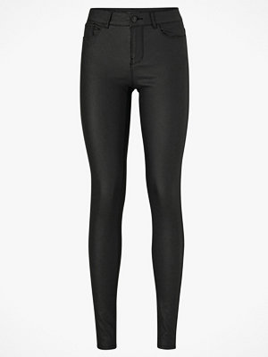 Vero Moda Byxor VmSeven NW SS Smooth Coated Pants svarta