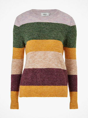 Only Tröja onlSusi L/S Strip Pullover Wool