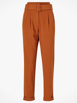 Only Byxor onlSica Paperbag Pants bruna