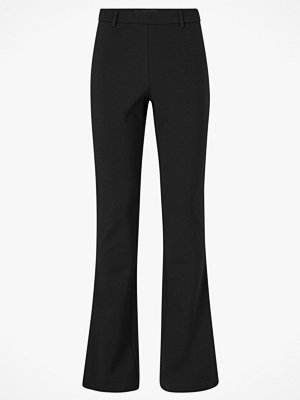 Object Byxor objNicky Long Flared Pant svarta
