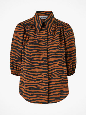 co'couture Blus Java Tiger Puff Shirt