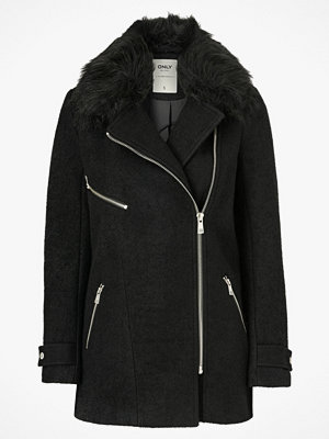 Only Jacka onlCarol Wool Fur Biker Coat