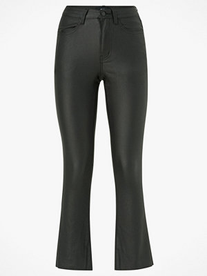 Object Byxor objBelle Coated HW Cropped Legging svarta