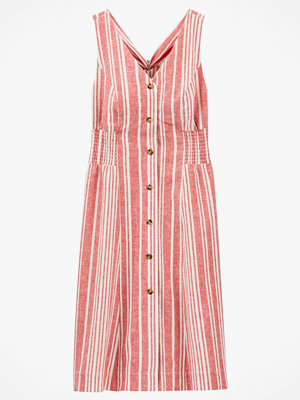 La Redoute Ärmlös, randig klänning i halvlång modell