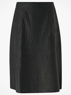 Selected Femme Skinnkjol slfMarla HW Midi Leather Skirt