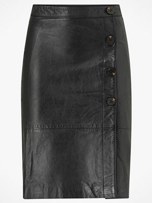 Vila Skinnkjol viElfi HW Leather Skirt