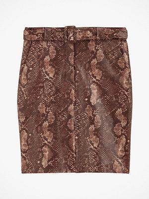 La Redoute Rak kjol med reptilmönster