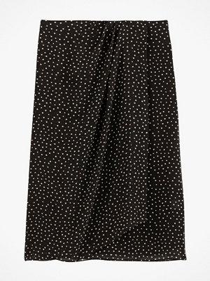 La Redoute Rak, prickig kjol med drapering