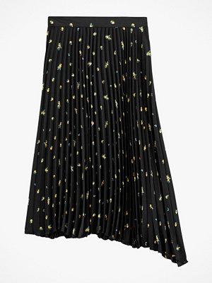 La Redoute Plisserad, mönstrad kjol i lång, asymmetrisk modell