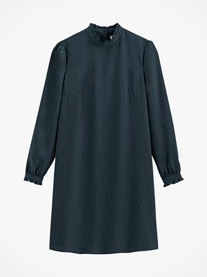 La Redoute Rak klänning med volangkrage och lång ärm