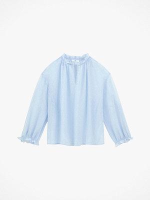 La Redoute Prickmönstrad blus med ståkrage och lång ärm