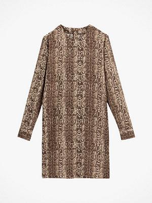 La Redoute Rak klänning med reptilmönster och lång ärm