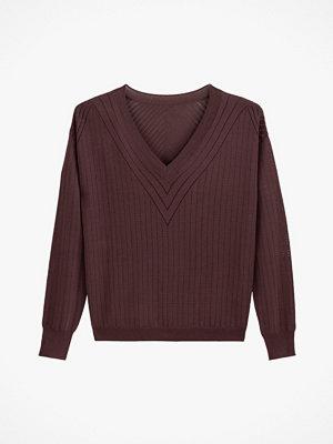La Redoute Finstickad tröja med V-ringning och hålmönster