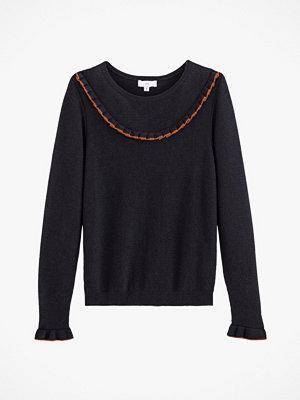 La Redoute Finstickad tröja med volanger och rund halsringning