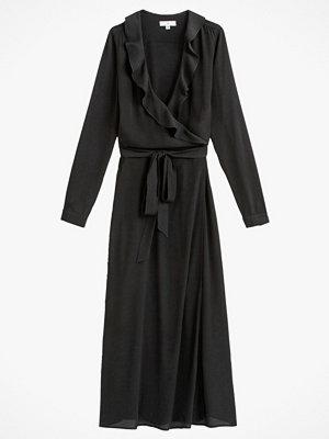 La Redoute Lång omlottklänning med volang upptill