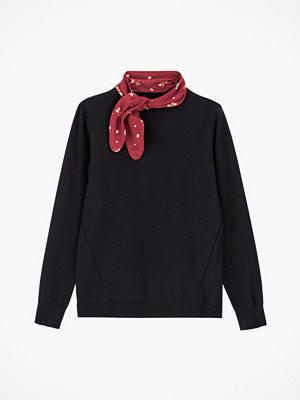 La Redoute Finstickad tröja med scarf