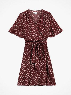 La Redoute Kort omlottklänning med klövermönster