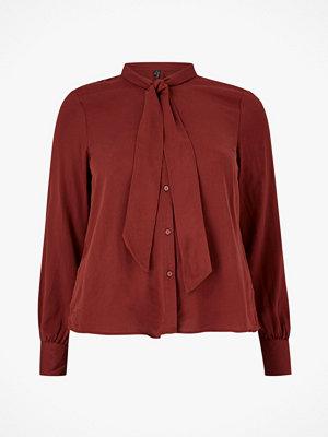 Vero Moda Curve Blus vmAmelia LS Bow Tie Shirt GA Color Curve