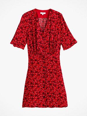 La Redoute Kort, utställd klänning med V-ringning och kort ärm