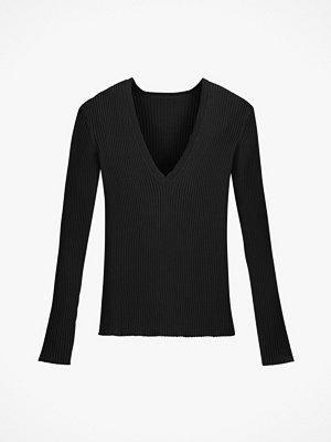 La Redoute Ribbstickad tröja med V-ringning