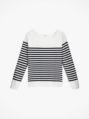 La Redoute Finstickad, randig tröja i bomullsblandning