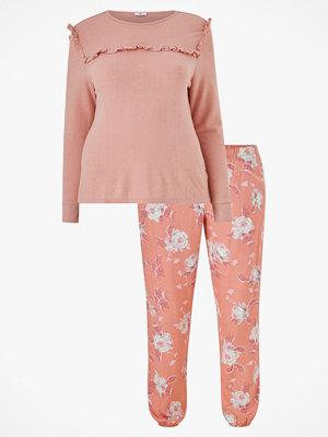 La Redoute Pyjamas med tröja med volang och blommig byxa