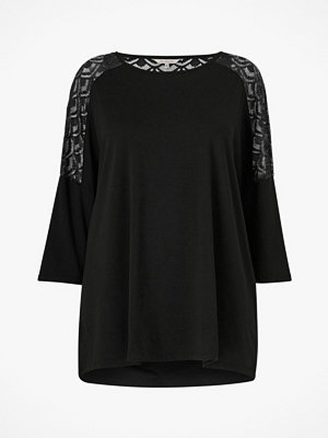 Only Carmakoma Topp carCarma 3/4 Lace Glitter Top