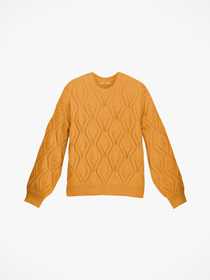 La Redoute Grovstickad tröja med hålmönster och rund halsringning