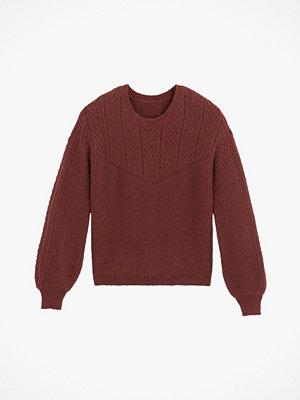 La Redoute Mönsterstickad tröja med rund halsringning och puffärm
