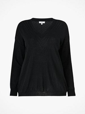 La Redoute Finstickad tröja med hålmönster och V-ringning