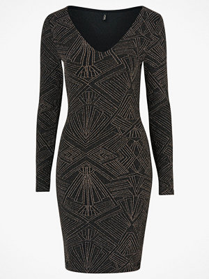 Only Klänning onlShine L/S V-Neck Bodycon Dress