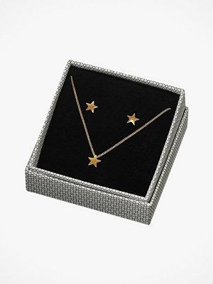 Edblad smycke Örhängen + Halsband Sirius Set Gold