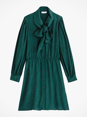 La Redoute Kort klänning med knytning i halsen och lång ärm