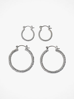 Pieces smycke Örhängen pcJulie Hoop Earrings 2-pack