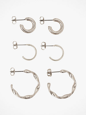 Pieces smycke Örhängen pcOtillie Hoop Earrings 3-pack